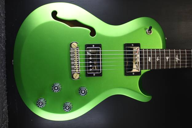 Singlecut Semi Hollow Jewell Lime Metallic